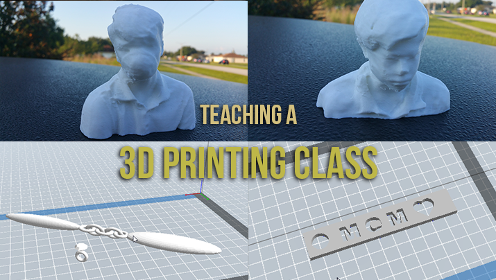 Teaching a 3D Printing / 3D Scanning Class to middle school students